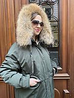 Парка куртка пальто пуховик Аляска женская длинная короткая с мехом хаки спортивная молодежная стильная экопух