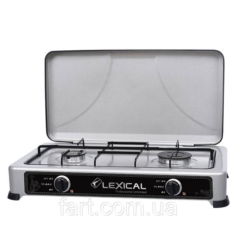 Газовая плита LEXICAL LGS-2812-8 настольная на 2 конфорки