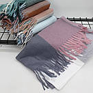 Кашемировый теплый шарф палантин  Cashmere 107041, фото 2