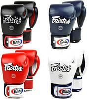 Боксерские перчатки Fairtex BGV1 12, 14 и 16 унций тренировочные, кожаные перчатки для бокса