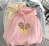 Женский теплый худи кофта с капюшоном двухнить размер универсал 42-46, фото 6