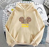 Женский теплый худи кофта с капюшоном двухнить размер универсал 42-46, фото 8