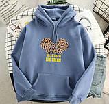 Женский теплый худи кофта с капюшоном двухнить размер универсал 42-46, фото 2