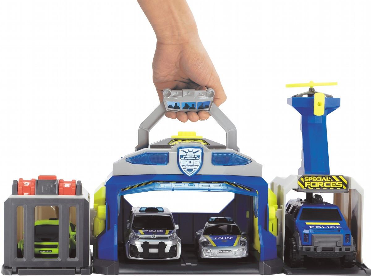 Набор с машинками для мальчиков Dickie toys Sos Управление полиции со светом и звуком 3719011