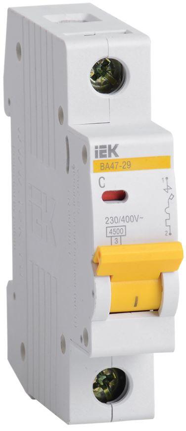 Автоматичний вимикач ВА47-29 1P-З 1A 4,5 кА, ІЕК