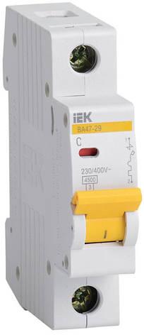 Автоматичний вимикач ВА47-29 1P-З 1A 4,5 кА, ІЕК, фото 2
