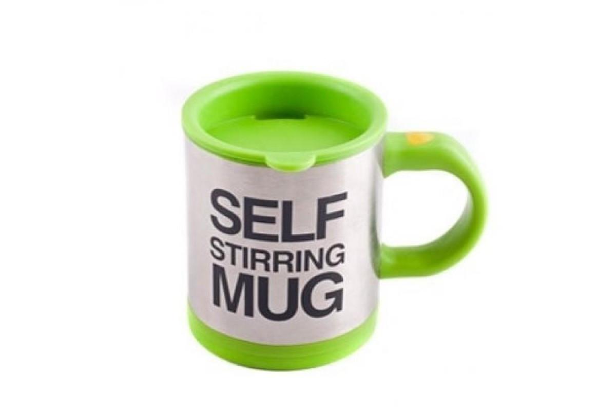 Кружка-мешалка UFT Self Stirring Mug автоматическая Зеленая (RI0588)