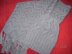 Шерстяные шапочка и шарф ручной работы