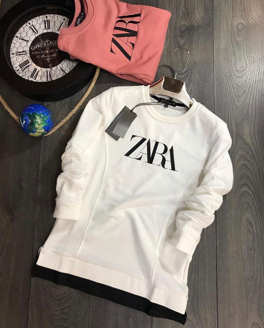 😜 Світшот - Чоловічий брендовий світшот ZARA білий