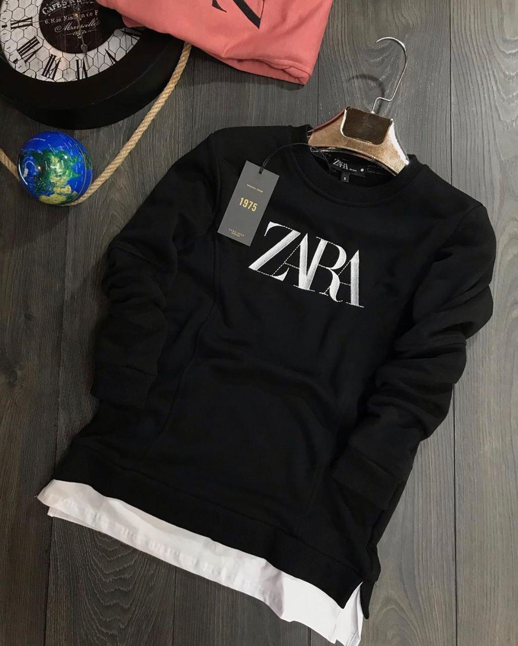 😜 Свитшот - Мужской брендовый свитшот ZARA черный