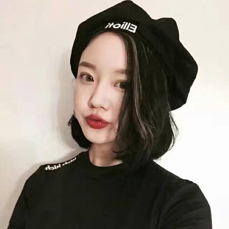 Берет женский замшевый с вышивкой теплый зимний в корейском стиле в расцветках