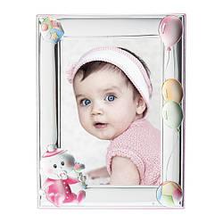 Фоторамка детская 6x9см для девочки с Серебряной Рамкой ( Греция )