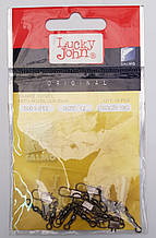 Карабин + вертлюг бочонок Lucky John №12