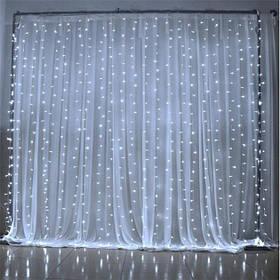 Гирлянда светодиодная штора водопад 3*2 м белая с переходником