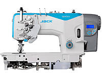 Jack JK-58450J Двухигольная швейная машина с автоматикой, отключением игл и прямым приводом