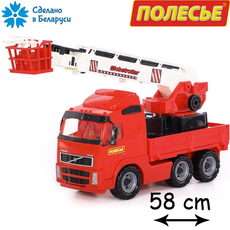 Детская пожарная машинка с лестницей 58см, Полесье (8787)