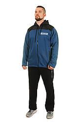 Теплий чоловічий спортивний костюм Tailer з трикотажу і плащової тканини сезон зима Подовжена куртка!