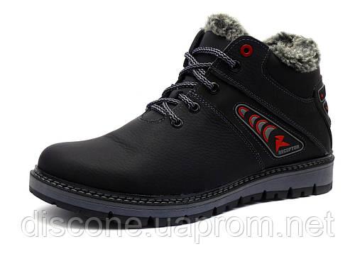 Ботинки зимние мужские Receptor C3 кожаные на меху черные