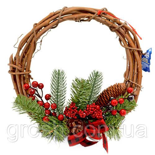 """Декор рождественский """"Венок"""" 29см"""