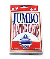 """Карты игральные большого размера """"Jumbo"""", пластиковое покрытие"""