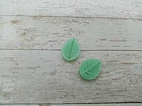Силиконовые Вайнеры Fom-flowers Лист Розы мини М 3,5х2,6 см, фото 1