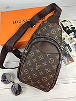 Сумка через плечо бананка слинг Louis Vuitton Луи Виттон ЛВ