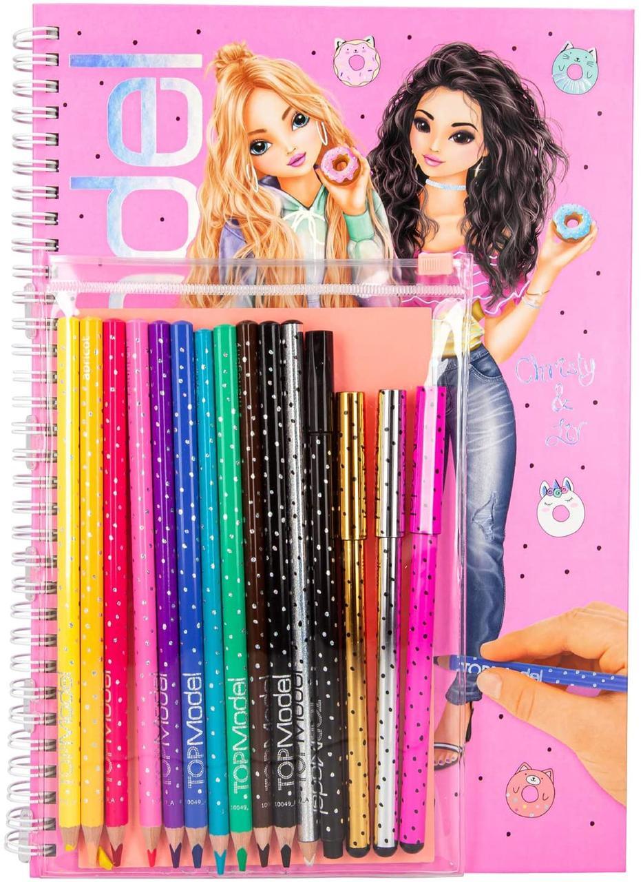 TOP Model - Набір для творчості з олівцями та лайнерами CANDY CAKE(Альбом ТОП Модел с карандашами 10049)