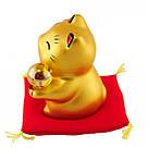 Золотой манеки-неко «С жемчужиной», фото 3