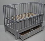 Дитяче ліжечко Кузя Анастасія маятник+ящик, венге, фото 8