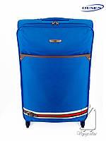 Дорожный большой чемодан тканевый Ousen 2 на 4х колесах синий