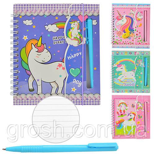 """Блокнот в подар. коробке с ручкой """"Unicorn"""" А6 50л"""