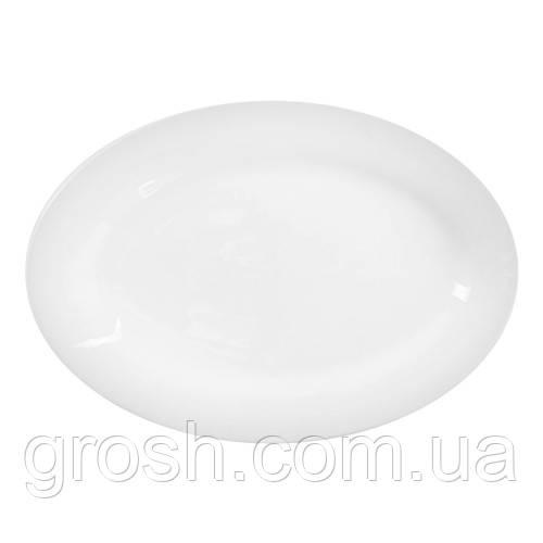 Блюдо сервировочное овальное фарфор 21*30.5см