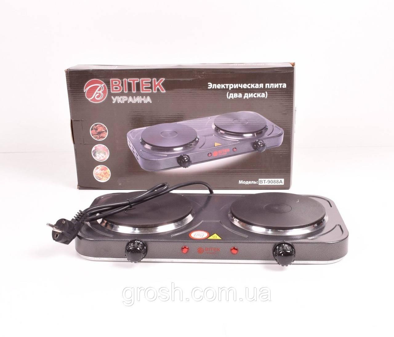 Электроплита BITEK BT-9088A (дисковая на 2 конфорки/2Д)