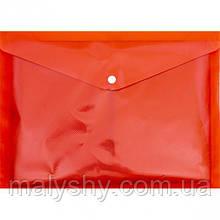 Папка кнопка А4 красная 17 микрон ТЕКА
