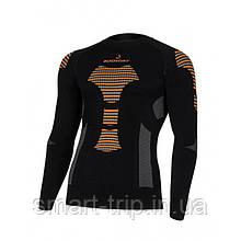 Термореглан BODYDRY Bionic чоловіче термобілизна лонгслив XS/S black/orange (BNC103-XS/S)