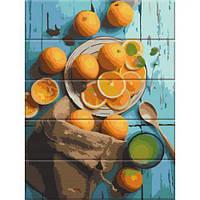"""[ASW119] Живопис за номерами на дереві """"Апельсини"""" 30*40см  ASW119 (TC148461)"""
