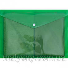 Папка кнопка А4 зеленая 17 микрон ТЕКА