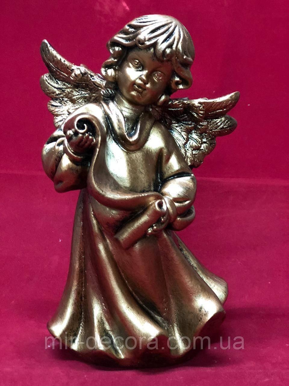 Статуэтка гипсовая фигурка Ангел, бронза, 22 см