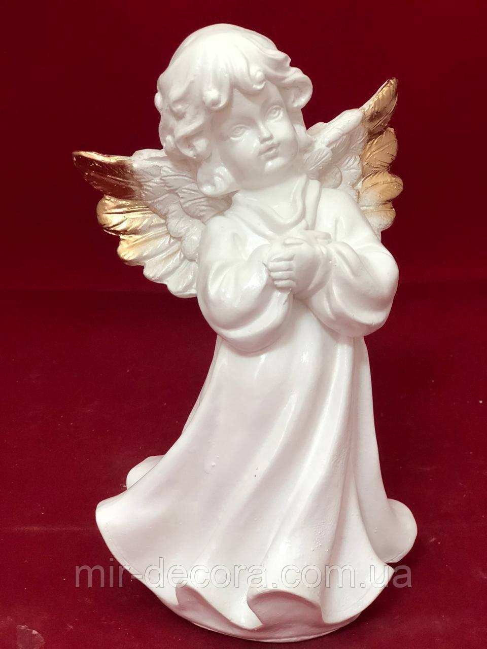 Статуэтка гипсовая фигурка Ангел, золото, 22 см