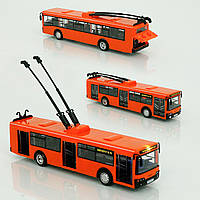 Игрушка Троллейбус оранжевый Автопарк