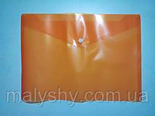 Папка кнопка А4 оранжевая 17 микрон ТЕКА