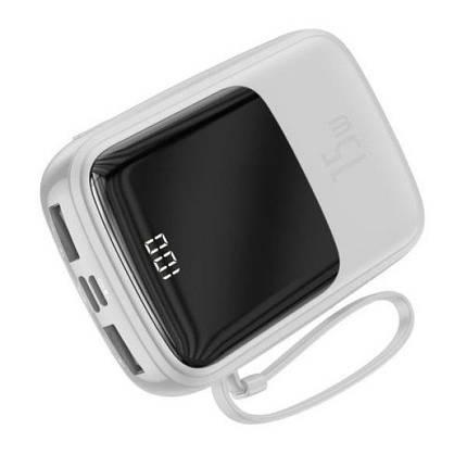 Power Bank Baseus Q pow Digital Display 3A 10000mAh (с кабелем Type-C) White, фото 2