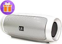 Колонка LZ Charge 4 Silver функция павер банк блютуз Мощность 10 Вт Bluetooth USB портативная переносная