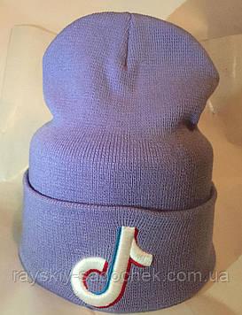 Жіноча вовняна шапка з логотипом подвійна