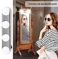Підсвічування Світильник на дзеркало для макіяжу Studio Glow, Світлодіодна Лампа -4 лампи, для дзеркала