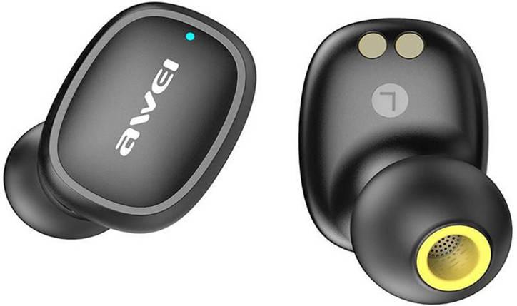 Бездротові Bluetooth-навушники Awei T13 TWS Black, фото 2