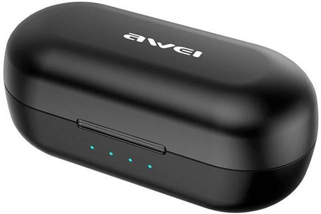 Беспроводные Bluetooth наушники Awei T13 TWS Black, фото 2