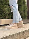 Женские кроссовки Alexander Mcqueen бежевые (копия), фото 6