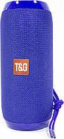 Колонка беспроводная T&G TG117 Blue блютуз для музыки с флешкой и картой памяти