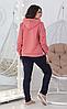 Демисезонный женский повседневный трикотажный костюм спортивного стиля с лампасами, фото 2